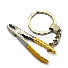 Dentist Gift Unisex Key Ring Gold Dental Extracting Forceps Stainless Steel
