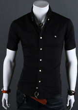 Stylish Design Men's Slim Fit POLO T-Shirt Short Sleeve Casual Dress Shirt Tops