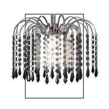 Fontaine de diamant pendentif acrylique Lustre Luminaire Éclairage de fumer Noir