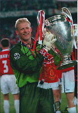Peter SCHMEICHEL SIGNED Autograph Man United Champions League Photo AFTAL COA