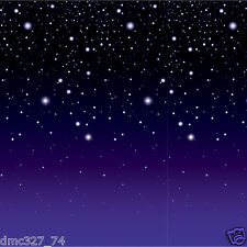 HOLLYWOOD Alien Space Party Decoration Stars STARRY NIGHT Wall MURAL BACKDROP