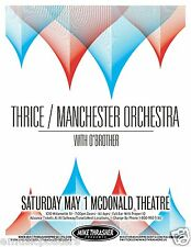 THRICE / MANCHESTER ORCHESTRA /O'BROTHER 2011 EUGENE, OREGON CONCERT TOUR POSTER