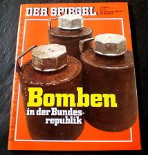 Der Spiegel 23/72 Titelbild: Bomben in der Bundesrepublik, Plastik-Krankenschein