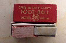 CARTE DA GIUOCO MIGNON FOOT BALL CREAZIONE BERTINO TORINO ANNI '40