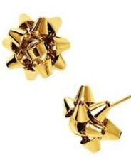 KATE SPADE BOURGEOIS BOW STUD Golden Extremely  Rare NEW WITH TAGS