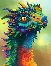 DRAGON PSYCHEDELIC  ART IMAGE A4 Poster Gloss Print Laminated
