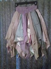 ~tav~ LOT of 5 ~ Silk Gypsy Peasant Asymmetrical Boho Handkerchief Skirts ~ OS