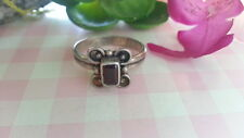 Beautiful Red Garnet Flower CZs Ring 925 Sterling Silver *Size 8.25 *C639