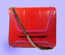 YLIANA YEPEZ Mini Giovanna Red/Pink Leather Shoulder Bag Msrp $695