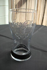 "COCA-COLA  LONDON OLYMPICS 2012 GLASS, BLACK BAND 5.50"" ADVERTISING COLLECTABLE"