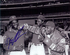 NY Mets Doc Gooden autographed B/W photo with Darryl Strawberry & Mike Tyson **