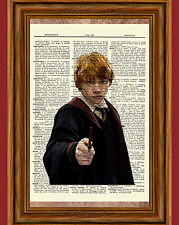 Ron Weasley Dictionary Art Print Picture Poster Book Rupert Grint Harry Potter