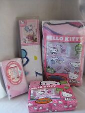 NEW HELLO KITTY SWEET & SCENTED HIGH TEA 7 PC TWIN BED SET WINDOW PANELS MURAL