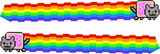 2 x cool nyan cat vinyl wall,car,van decal sticker