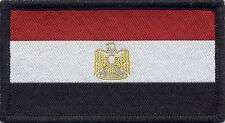 Egyptian Flag Woven Badge, Patch 8cm x 4.5cm