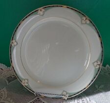 Hutschenreuther Germany Dinner Plate Gold Black Green Trim 10""
