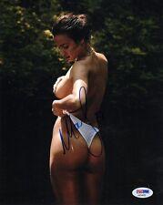 IRINA SHAYK SIGNED 8x10 PHOTO SPORTS ILLUSTRATED SWIMSUIT MODEL TOPLESS PSA/DNA