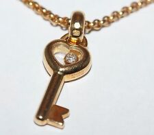 Chopard Happy Diamonds 18ct Yellow Gold Necklace With Key Pendant