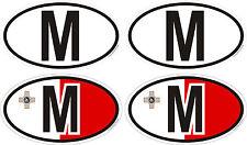 4 Sticker 50 x 30 mm Nationalitätenkennzeichen Malta Auto Bike Helm Handy Laptop