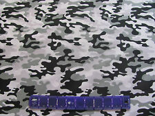 CAMOUFLAGE 4 TONES of SNOW HUNTING on COTTON FABRIC Price By The Yard