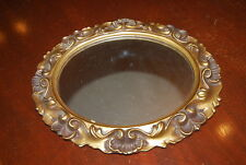 WONDERFUL VINTAGE ILLINOIS MOULDING CO. ROCOCO STYLE ANTIQUE GOLD MIRROR OR TRAY