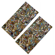 2 Pcs Celluloid Head Veneer Multicolor Shell Guitar Parts Shell Sheet