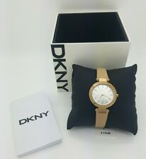 NEW W TAG AND BOX DKNY Women's NY2457 'Stanhope' Beige Leather Watch
