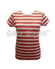 Sexy Wally Girls / Ladies Red & White Striped Fancy Dress T-Shirt Top