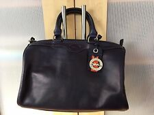 New with defects LONGCHAMP Au Sultan Navy Leather Duffle Satchel Handbag