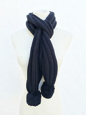 UGG Australia U1853 Black Wool Knit Winter Scarf