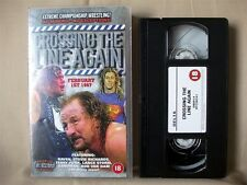 ECW CROSSING THE LINE AGAIN [VHS] Wrestling Video; Feb 1st 1997; Raven, Sandman
