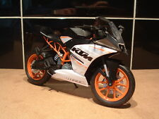 1:12 KTM RC390 RC 390 SUPER SPORT MODELL SUPERB DETAIL BSB ERSATZ ORANGE WEIß