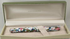 Levenger True Writer Spring Bouquet & Chrome Fountain Pen - Medium Nib - New