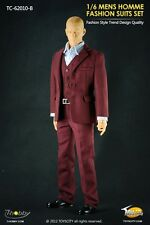 "1/6 Toyscity Man Trend Red Suits Set Clothes Costume For 12"" Male Figure Body"