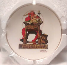 "8½"" Knowles ""Letter to Santa"" Collector Plate - Signed By Norman Rockwell  COA"