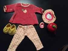 Retired American Girl Bitty Baby Autumn Apple Picking Set 1998 7pc