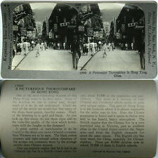 Keystone Stereoview of a Street Scene in HONG KONG, CHINA From 600/1200 Card Set