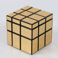 Magic Cube 3x3x3 PVC Black Super Speed Rubik's Cube 3x3 3 Layers GOLD IRREGULAR