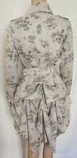 Stunning Pintuck Floral Riding Jacket by Topshop Size 10 ~ Victorian, Gothic