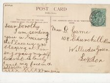 Miss Dorothy Game Churchill Road Willesden Green London 1904  271a