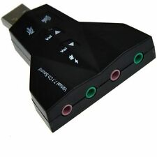 2.0 USB To Stereo Sound Card Virtual 2.0 Audio Adapter Dual Microphone