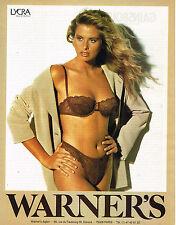 PUBLICITE ADVERTISING 124  1992  WARNER'S soutien gorge sous vetements