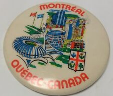 "Vintage 2"" Promo Button Pinback CITY OF MONTREAL ~ Quebec~ Canada Ancien Macaron"