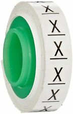 "3M Scotch Code Wire Marker Tape Refill Roll SDR-X, Printed with ""X"" (Pack of 10)"