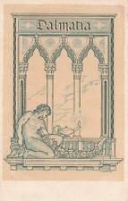 A2168) DALMATIA, COMITATO DI ASSISTENZA ANNO VIII. ILLUSTRATORE FERRARO. VG.