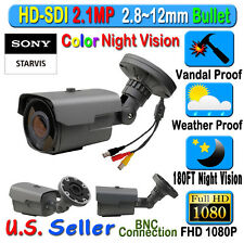 LEXA HD SDI 2.1MP SONY Starvis 1080P CCTV Security Camera 2.8-12mm starlight