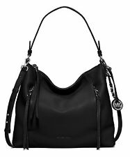 Michael KORS BORSA/BAG Corrine shoulder Hobo Black/Silver NUOVO! modello 2016