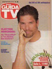 rivista NUOVA GUIDA TV ANNO 1992 NUMERO 38 CLAYTON NORCROSS