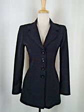 bebe Black Empire Waist Pocketed SOFT LONG Blazer Size 2