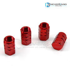 New Red 4pcs Tire Wheel Rims Stem Air Valve Caps Tyre Cover Car Truck Bike